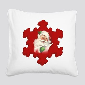 Vintage Santa Reworked! Square Canvas Pillow