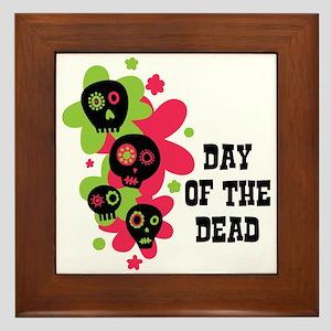 Day Of The Dead Framed Tile