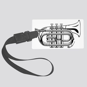Beautiful Black and White Trumpe Large Luggage Tag