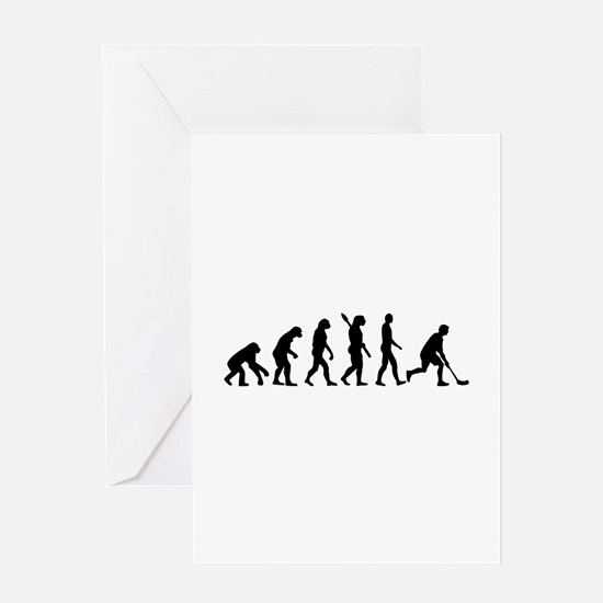 Floorball Evolution Greeting Card