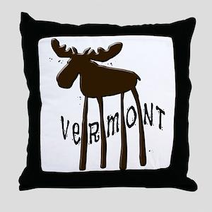 Vermont Moose Throw Pillow