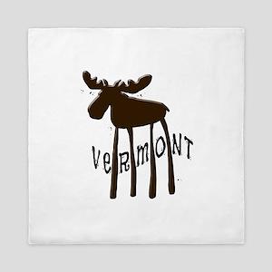 Vermont Moose Queen Duvet