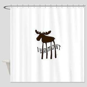 Vermont Moose Shower Curtain