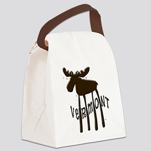 Vermont Moose Canvas Lunch Bag