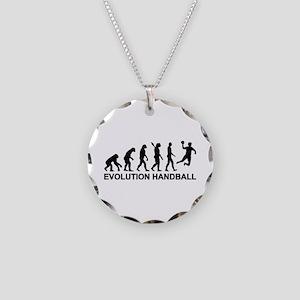 Evolution Handball Necklace Circle Charm