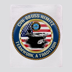 CVN-68 USS Nimitz Throw Blanket