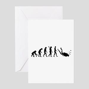 Evolution Diving Greeting Card