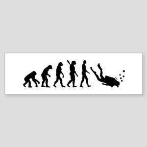 Evolution Diving Sticker (Bumper)