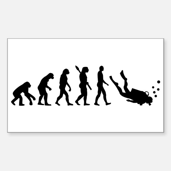 Evolution Diving Sticker (Rectangle)