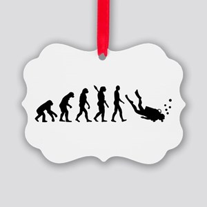 Evolution Diving Picture Ornament