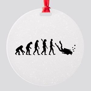 Evolution Diving Round Ornament