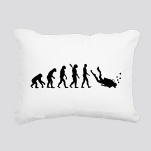 Evolution Diving Rectangular Canvas Pillow