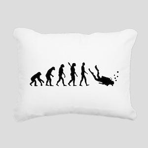 Evolution Diving Rectangular Canvas Pillow