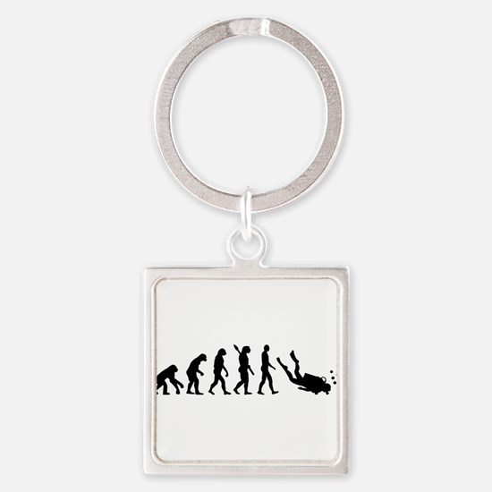 Evolution Diving Square Keychain
