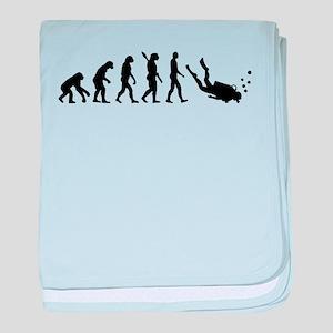 Evolution Diving baby blanket