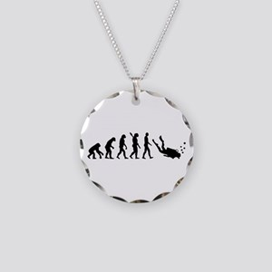 Evolution Diving Necklace Circle Charm