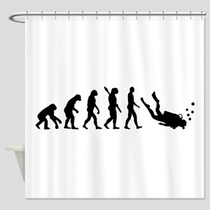 Evolution Diving Shower Curtain