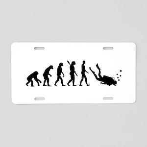 Evolution Diving Aluminum License Plate