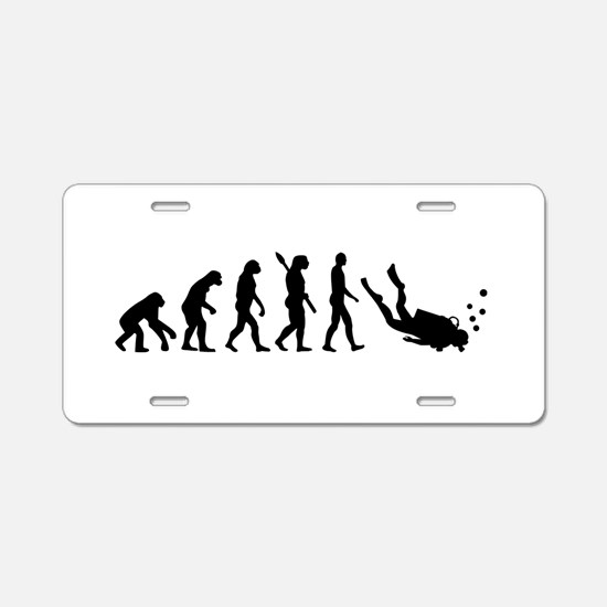 Evolution Diving Aluminum License Plate