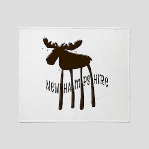 NH Chocolate Moose Throw Blanket