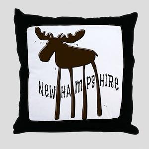 NH Chocolate Moose Throw Pillow