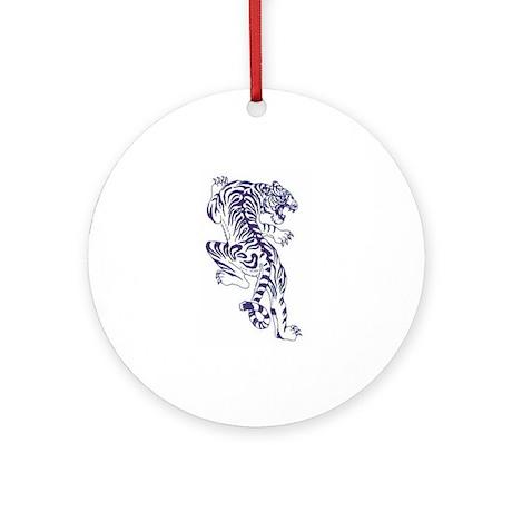 White Tiger Ornament (Round)