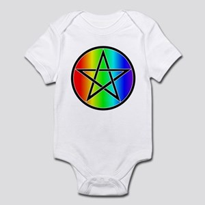 Rainbow with Black Pentacle Baby Creeper
