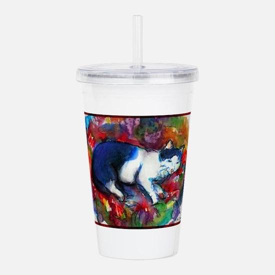 Cat! Colorful, pet, art! Acrylic Double-wall Tumbl