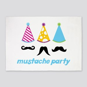 Mustache Party 5'x7'Area Rug