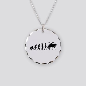 Evolution Horse Vaulting Necklace Circle Charm