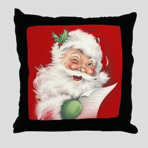 Vintage Santa Reworked! Throw Pillow