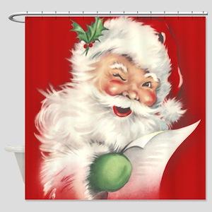 Vintage Santa Reworked! Shower Curtain
