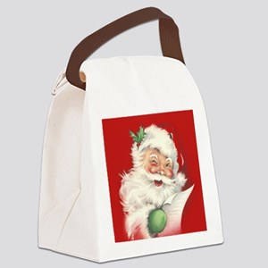 Vintage Santa Reworked! Canvas Lunch Bag