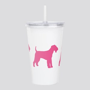 Airedale Terrier Pink Ombre Acrylic Double-wall Tu