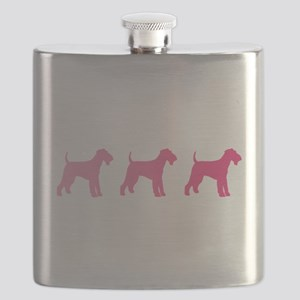 Airedale Terrier Pink Ombre Flask
