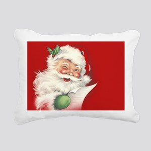 Vintage Santa Reworked! Rectangular Canvas Pillow