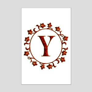 Letter Y Monogram Mini Poster Print