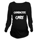 Get Into Character/Like I Care Black-White Long Sl
