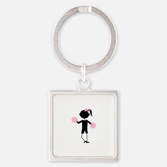 Girl Cheering Keychains