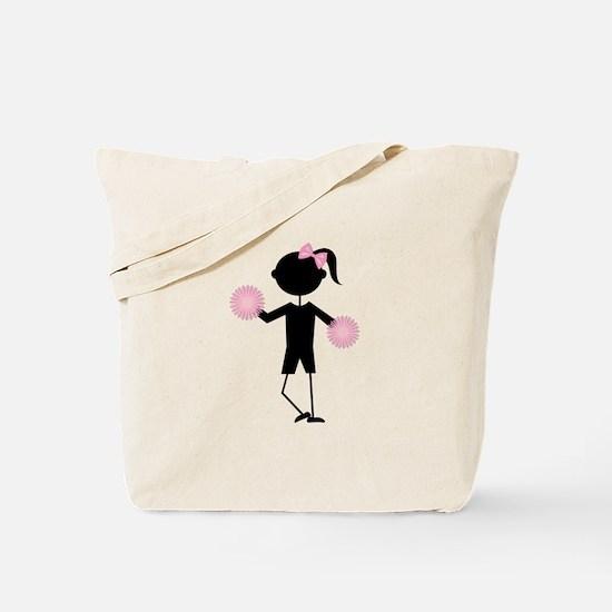 Girl Cheering Tote Bag