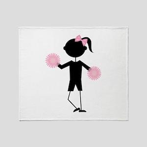 Girl Cheering Throw Blanket