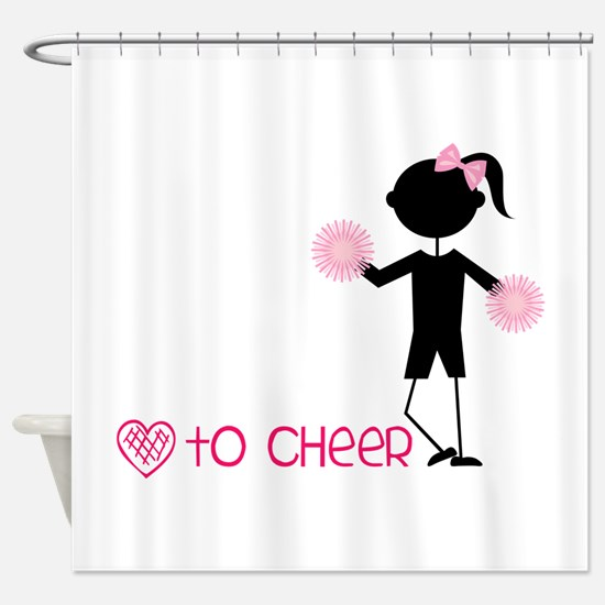 Love To Cheer Shower Curtain