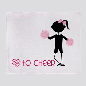 Love To Cheer Throw Blanket