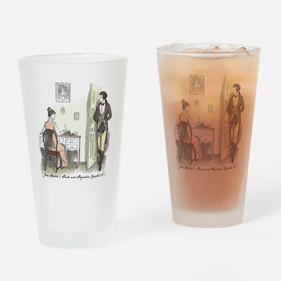 Cute Mr. darcy Drinking Glass