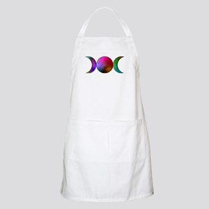 Triple Moon BBQ Apron - Watercolor