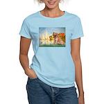 Sailboats (#2) & Golden Women's Light T-Shirt