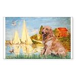 Sailboats (#2) & Golden Sticker (Rectangle)