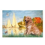 Sailboats (#2) & Golden Postcards (Package of 8)
