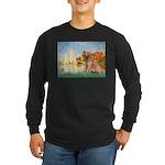 Sailboats (#2) & Golden Long Sleeve Dark T-Shirt