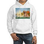 Sailboats (#2) & Golden Hooded Sweatshirt